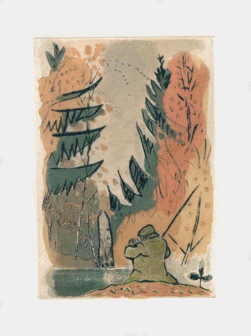 Рисунок Соболя. На рыбалке